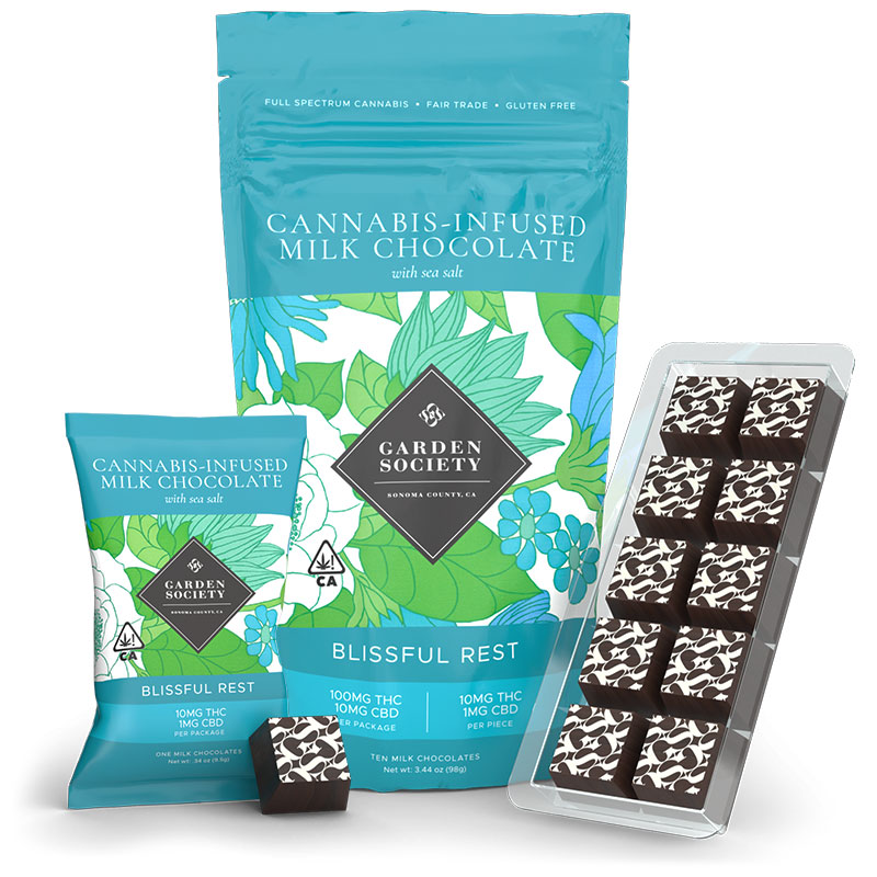 Milk Chocolate with Sea Salt Marijuana
