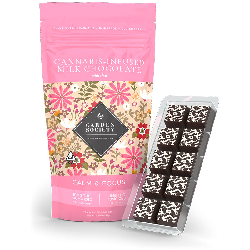 Milk Chocolate with Chai Marijuana